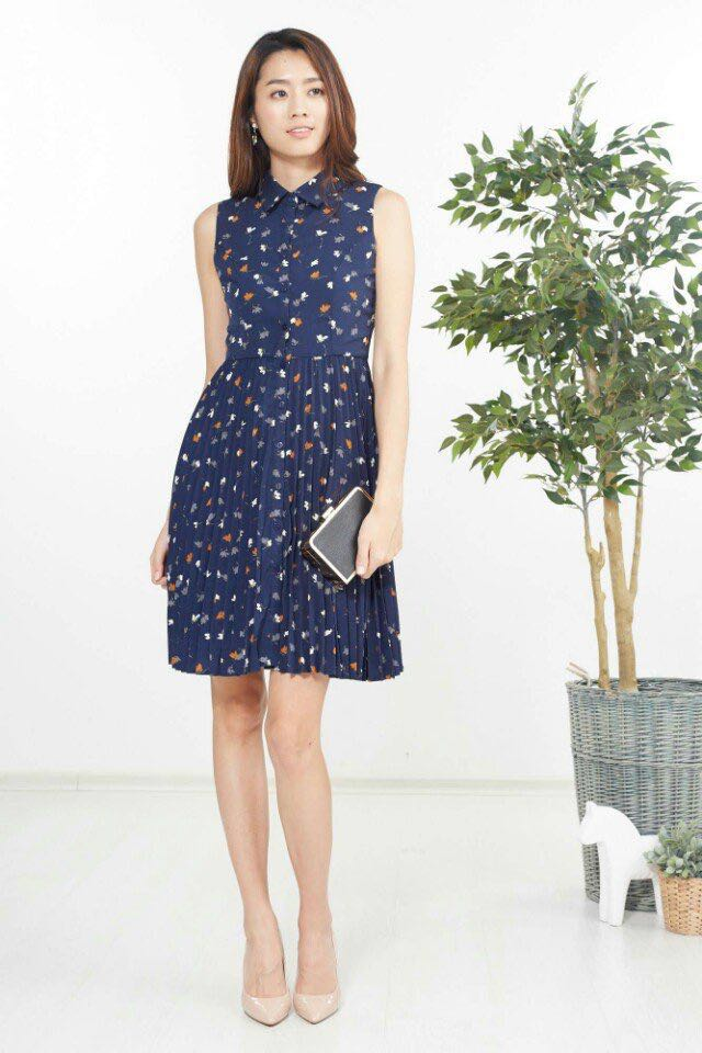 4d119a4fe8 The Ninth Collective Navy Dress