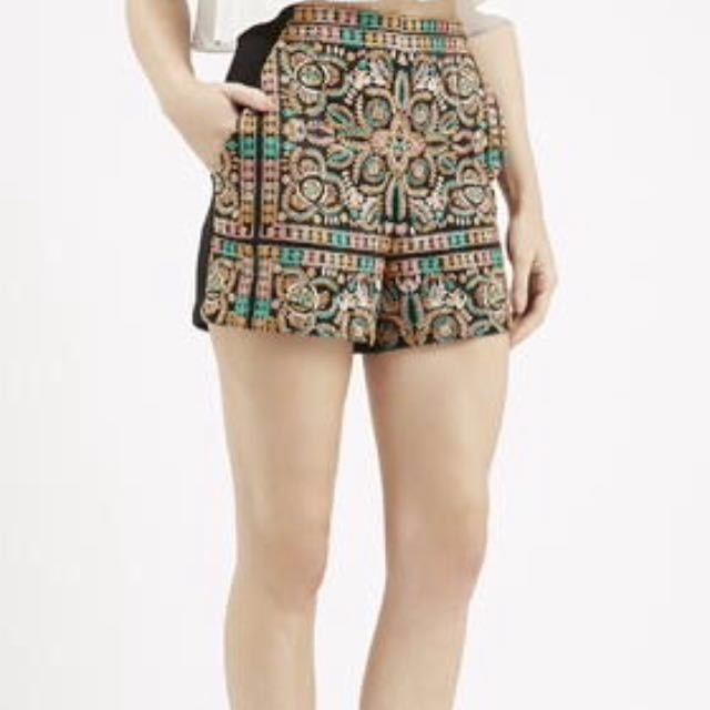 Topshop Embroidered Shorts