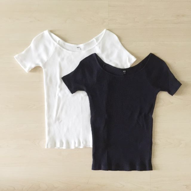 Uniqlo Ribbed Tops (only dark blue)