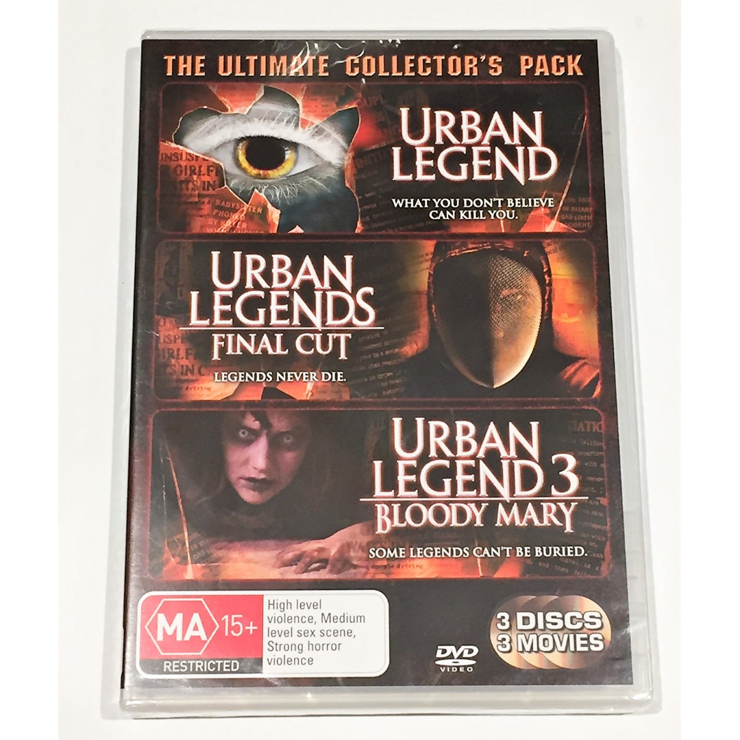 Urban Legends Trilogy DVD set