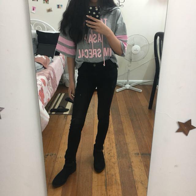 Valleygirl Slightly Cropped Shirt/ Hoodie