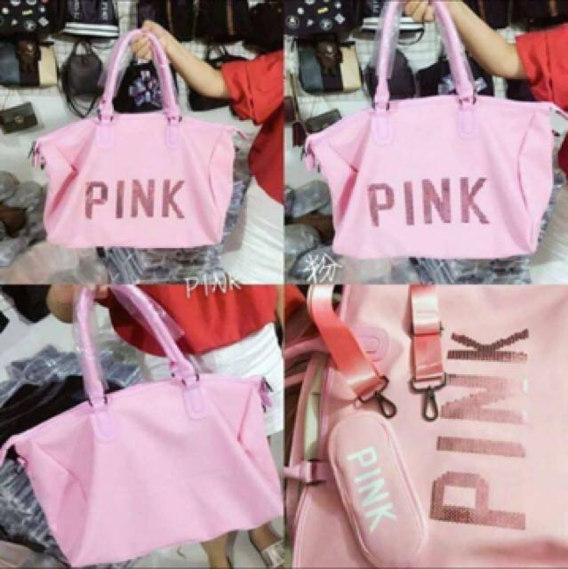 Victoria's Secret (VS) PINK Travel Bag / Duffel Bag (ONAHND AND READY FOR MEET UP IN GATEWAY CUBAO)