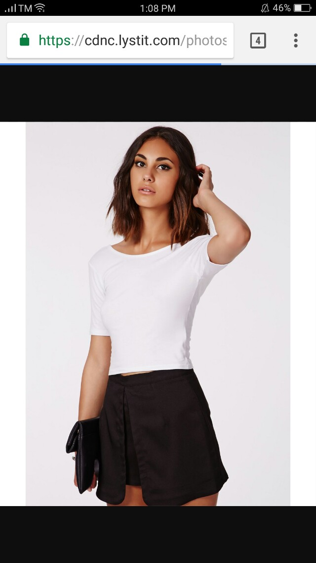 White scoop back top
