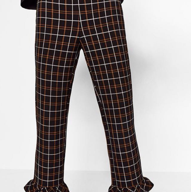 Zara chequered pants