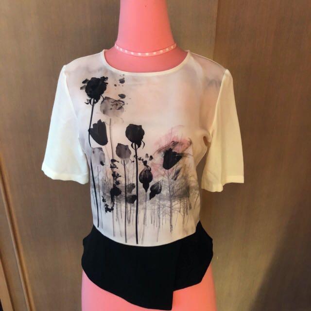 Zara White Flower Top