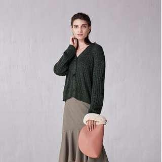 全新GU女裝金蔥寬版羅紋開襟外套