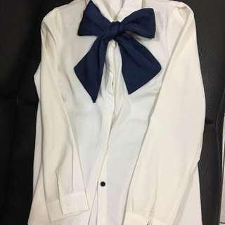🚚 雪紡綁帶蝴蝶結氣質襯衫原價699特價500