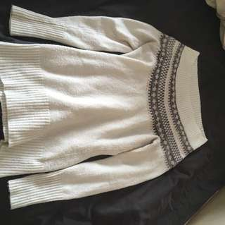 Beautiful medium acrylic/poly/spandex blend sweater