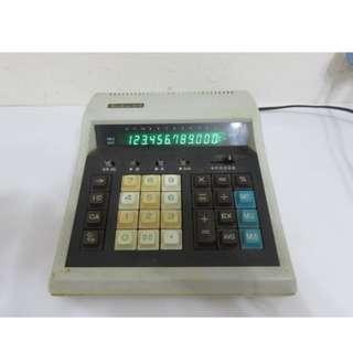期收藏台灣製 三愛 LED古董老電子計算機 Santron 12-D