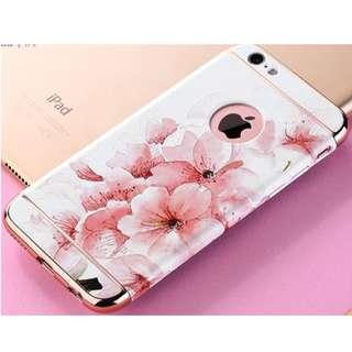 iPhone 6 pink flower textured hard plastic casing