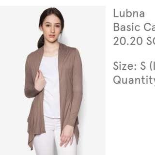 Lubna Basic Cardigan Nude Brown
