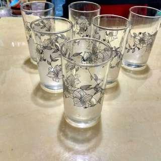 玻璃杯,六個