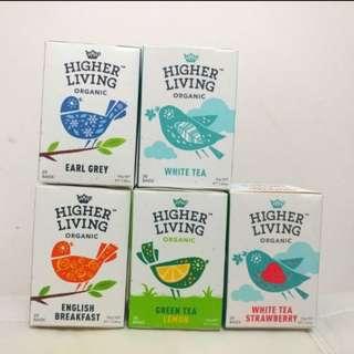 Higher Living Organic Fruit and Herbal Tea, 20 Teabags/box  Made In UK, $25/box