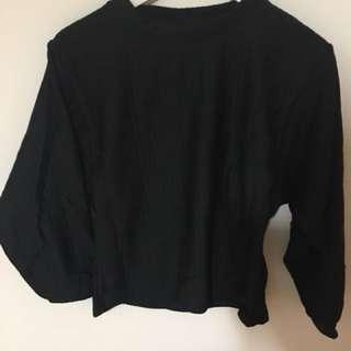 全新 蝙蝠袖 上衣 黑色