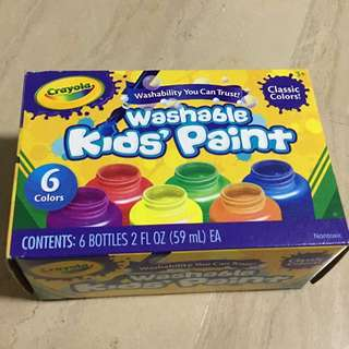 Crayola Washable Kid's Paint (6 count) Classic colours