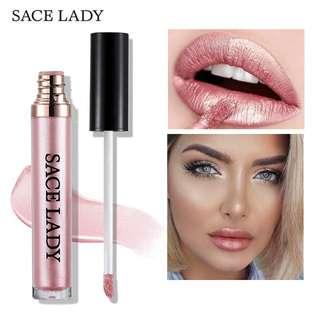 SACE LADY Metallic Liquid Lipstick waterproof Matte Lip Gloss