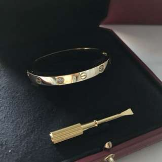 Cartier Love Bracelet 4 diamonds