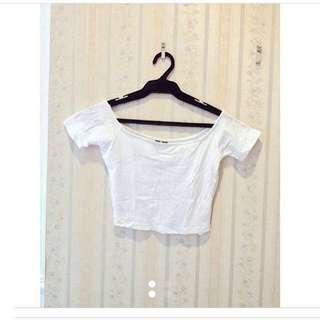 Cotton On White Crop Top