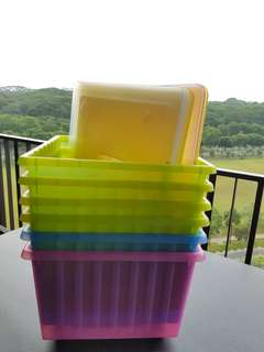 Ikea colourful storage boxes