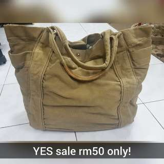 PADINI AUTHENTIC CANVAS/ TRIM LEATHER BAG