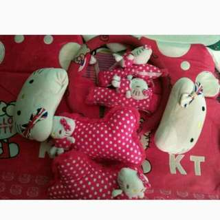 bantal + sarung jok hello kitty