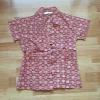 Preloved : top batik size S