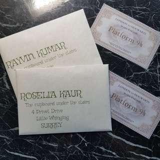 Customisable Hogwarts Acceptance Letter & MOM letter