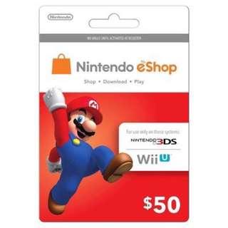 Nintendo eshop Gift Card 50USD