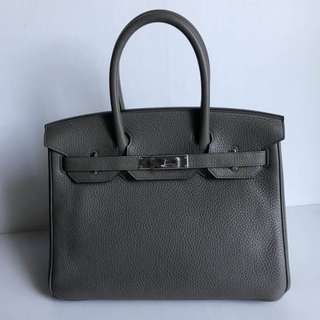 Authentic Hermes Birkin 30 Etain