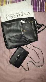 [SET] Vincci Backpack and Brand Outlets Sling Bag