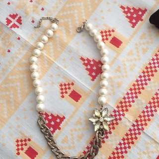 Necklace In Crystal And Pearl