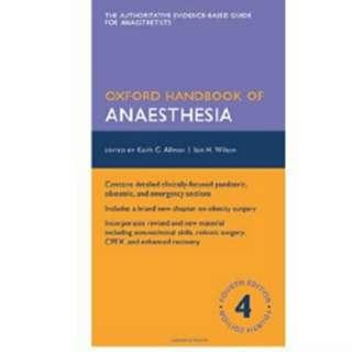 Oxford Handbook of Anaesthesia 4e