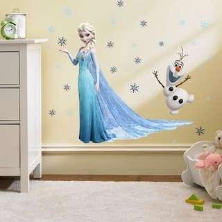 $15 Disny Frozn Princess Elsa+Olaf Wall Sticker decal