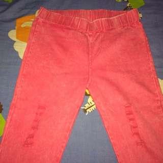 Distressed Pink Pants