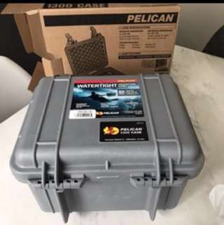Pelican 1300 Case In Silver - safe keep your headphones or perfect on your bike!