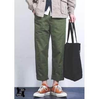 【 Chu.Cheng 】日系口袋素面水洗直筒工作褲 日本 余文樂 非WTAPS CARHARTT 男女可穿