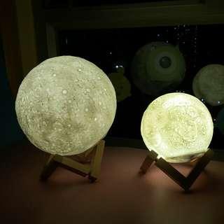 全新3D LED 立體月球燈 Moon Light 月影版 裝飾燈 床頭燈