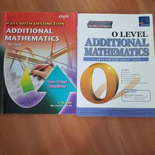 O Level Additonal Mathematics