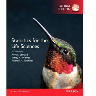 Statistics for the Life Sciences 5thEdition