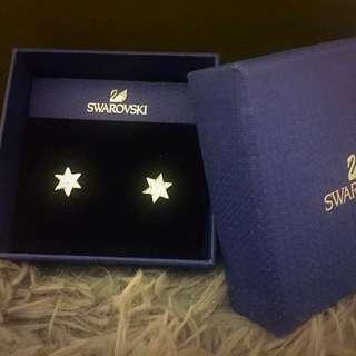 🚚 【全新】Swarovski施華洛世奇星星水鑽耳環