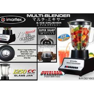 Imarflex Multi-Blender with Ice Crusher and Coffee Maker