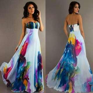 Heart Cut Long Dress
