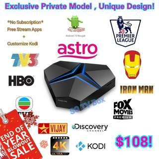 Exclusive Private Model House Special Iron Android Box ( IPTV / ASTRO / Malaysia Channels / TV3 / ASTRO RIA / Malay / TVB / MYIPTV / MoonTV / worldwide channels / TV box) #1212YES