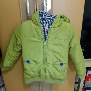 小青蛙厚鋪棉兩面穿超保暖外套