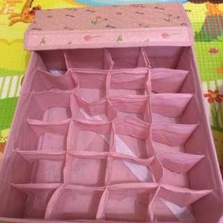 Organizer box for underwear and bra