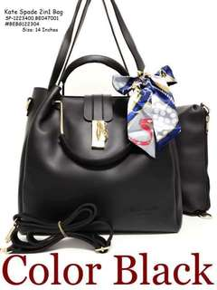 Kate spade 2in1 bag size : 14 inches with zipper