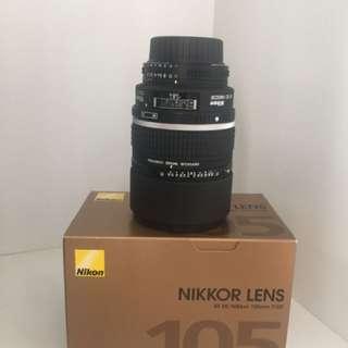 Nikon 105mm f2 DC Lens