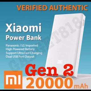 PROMOTION! Brand new Xiaomi Powerbank 20000mah Gen 2