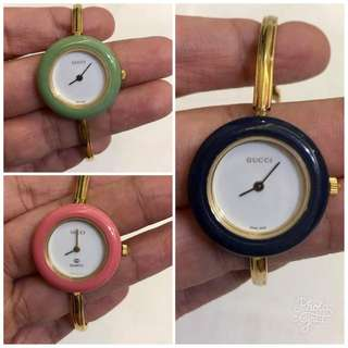 Gucci Authentic Bangle Gold Tone Ladies Watch