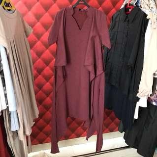 Maroon Tied Dress